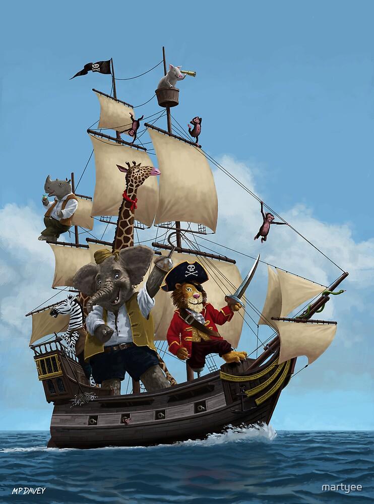 cartoon-animal-pirate-ship-martin-davey by martyee