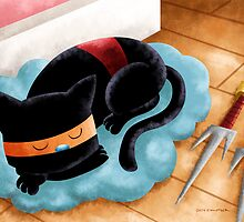 Ninja Cat Nap by Jeff Crowther