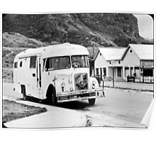 Old Bus in the street. Poster