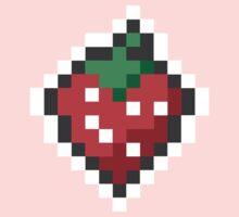 strawberry pixels Kids Clothes