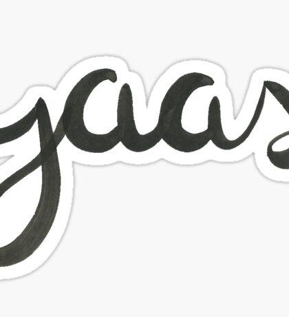 yaas Sticker