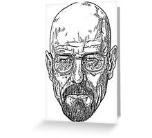Walter White Breaking Bad Greeting Card