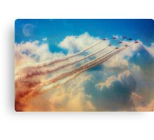 Red Arrows Smoke The Skies Canvas Print