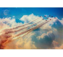 Red Arrows Smoke The Skies Photographic Print