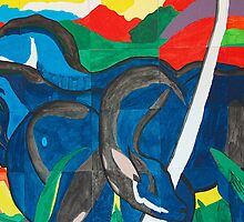 Franz Marc - Blue Horse  by William Martin