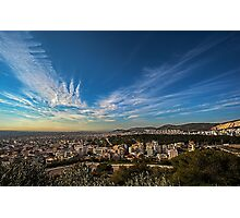 A clear Athens sky... Photographic Print