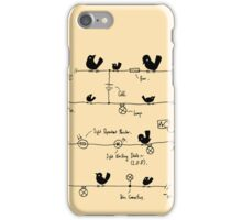 Circuitry - Birds (Yellow) iPhone Case/Skin