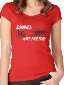 Zombies hate fast food Women's Fitted Scoop T-Shirt