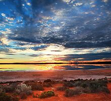 Salt Lake Sunset by rebeccasmart