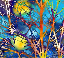 Colorful Branches by Michael Andersen