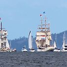 Tall Ships - leaving Hobart, Tasmania 25.9.2013 by gaylene