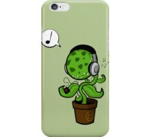 Music Plant (Green) iPhone Case/Skin