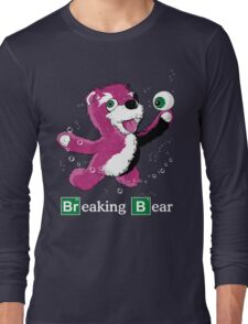 Breaking Bear Text Long Sleeve T-Shirt