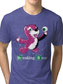 Breaking Bear Text Tri-blend T-Shirt
