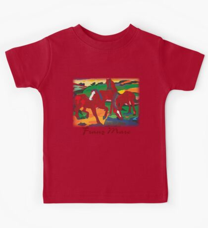 Franz Marc - Red Horses Kids Tee