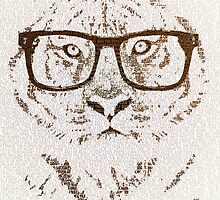 The Hipster Tiger by Paula Belle Flores