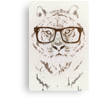 The Hipster Tiger Canvas Print