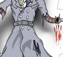 Inspector Zombie Sticker