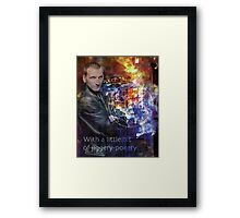 9th Doctor Who Eccelston Framed Print