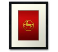 Chinese Zodiac Year of The Horse Symbol Framed Print