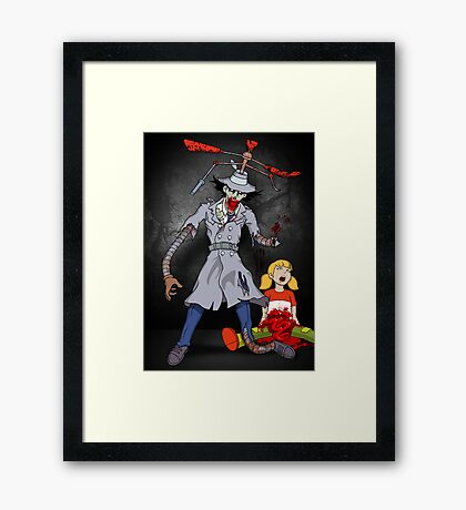 Inspector Zombie (with Penny) Framed Print