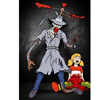 Inspector Zombie (with Penny) Photographic Print
