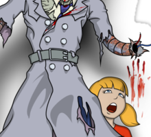 Inspector Zombie (with Penny) Sticker