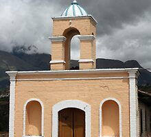 Brick Catholic Church Near Cotacachi Ecuador by rhamm
