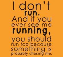 I don't run (black) by poppyflower