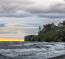 Stormy Sunrise on Lake Ontario by Mikell Herrick