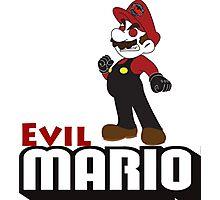 Evil Mario Photographic Print