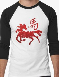 Year of The Horse Abstract T-Shirts Gifts Men's Baseball ¾ T-Shirt