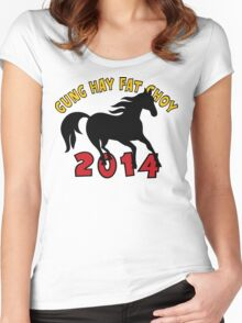 Happy Chinese New Year 2014 T-Shirts Gifts Women's Fitted Scoop T-Shirt