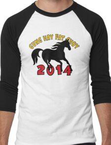 Happy Chinese New Year 2014 T-Shirts Gifts Men's Baseball ¾ T-Shirt