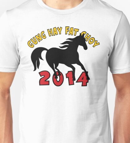 Happy Chinese New Year 2014 T-Shirts Gifts Unisex T-Shirt