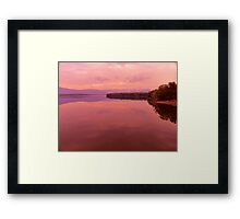 Morning Light on the Ashokan Reservoir Framed Print