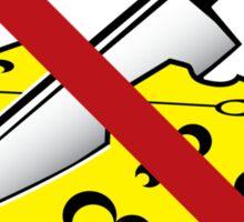 No Cheese Cutting Zone Sticker