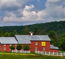 Owning a Farm Red Barn by PineSinger