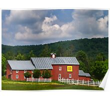 Owning a Farm Red Barn Poster