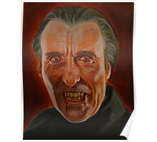 Christopher Lee as Dracula Poster