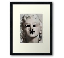 The Bombshell Emoticon Framed Print