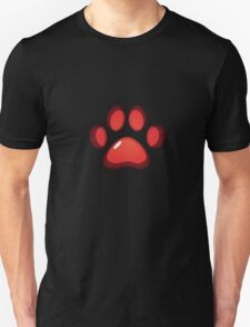 Ooh, shiny! Paw Print - Red Unisex T-Shirt