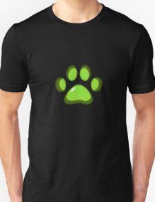 Ooh, shiny! Paw Print - Green T-Shirt