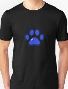 Ooh, shiny! Paw Print - Blue T-Shirt