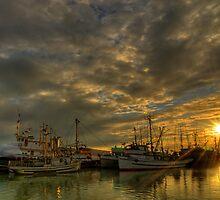 September Sunset in Steveston, BC by Marcel Pepin