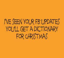 I've seen your FB updates you'll get a dictionary for Christmas by SlubberBub