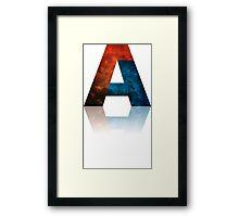 Alphabet A Framed Print