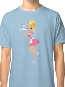 50's Retro Diner Girl Classic T-Shirt