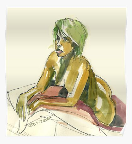 Green Blond Poster