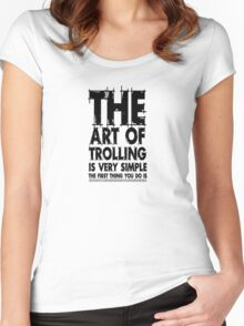 The art of trolling Women's Fitted Scoop T-Shirt